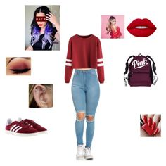 """Ariana Grande is in the house...."" by uainbowunicorn on Polyvore featuring Lime Crime and adidas"