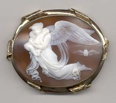cameo depicting the loss of two infant children...circa 1850-70