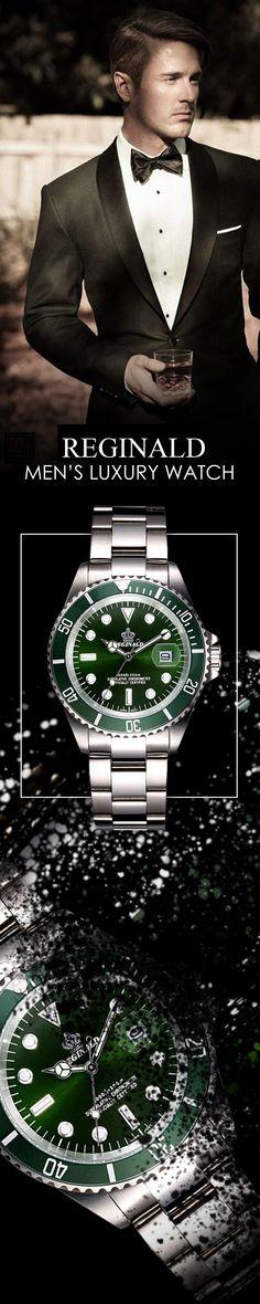 men's luxury affordable watches - Reginald steel quartz watch timepiece chronograph - Men's top brand designer fashion style accessories #watches #menswear #mensaccessories #luxurywatches