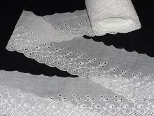 Vintage Lawn Cotton Batiste Embroidered Trim 5 yards