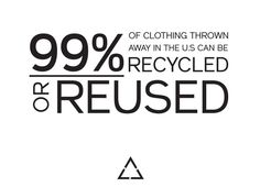 Not many people are aware that most clothing can be recycled and reused. Everyone should think this through before sending to a landfill or incinerator. Fashion Mode, Fast Fashion, Slow Fashion, Ethical Clothing, Ethical Fashion, Sustainable Clothing, Sustainable Fashion, Recycling Facts, Circular Economy