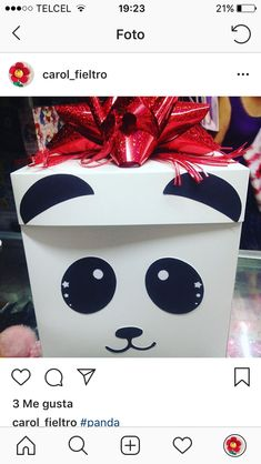 17th Birthday Gifts, Friend Birthday Gifts, Valentine Box, Valentines Day Party, Creative Gift Wrapping, Creative Gifts, Ideas Aniversario, Balloon Box, Panda Party