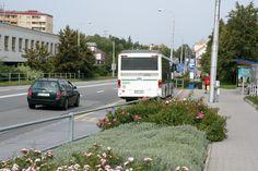 The main road heading north