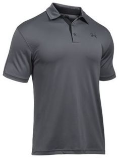 Under Armour Fish Hook Polo for Men - Rhino Gray/Black - 2XL