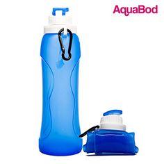 Sports Collapsible Water Bottle - BPA Free - FDA Approved - Leak Proof Silicone Sports Bottle - Aquabod (Blue) Aquabod http://www.amazon.com/dp/B012H5QDYW/ref=cm_sw_r_pi_dp_572vwb16K0BXB