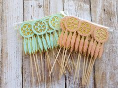 Dreamcatcher Cupcake Toppers... Young Wild & Three... Mint and