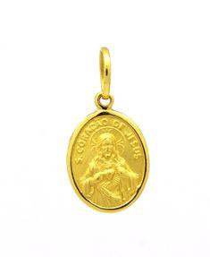 bf9410cb90658 Pingente Escapulário Ouro Amarelo 18k 750 - Marcio Joalheiros   Marcio  Joalheiros
