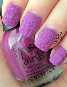 Fuzzy Nails!? That's so weird. It looks like someone is trying to make purple mold trendy... ew.