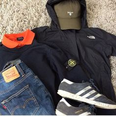 Away Days - North Face cagoule, Stone Island jumper and Hamburgs