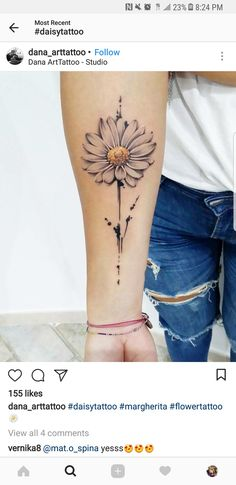 daisy april, daffodils march, aster September, nov - My site Dream Tattoos, Badass Tattoos, Sexy Tattoos, Cute Tattoos, Body Art Tattoos, Small Tattoos, Tattoos For Women, Tatoos, Tattoo Skin