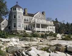 Home Exterior.  On a rocky shore, can there be a better place?