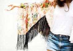 Make a kimono with absolutely no sewing! www.apairandasparediy.com by apairandaspare, via Flickr