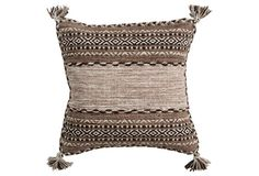 Trenza 18x18 Pillow, Beige