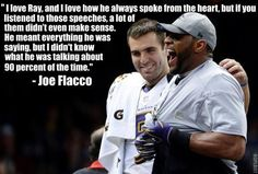 Joe Flacco's quote about Ray Lewis is freaking hilarious - Faux John Madden's Photos - LockerDome