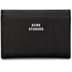 ACNE Card new black (2.155 CZK) ❤ liked on Polyvore featuring men's fashion, men's bags, men's wallets, bags, clutches, fillers, accessories, black, mens card case wallet and mens leather credit card holder wallet