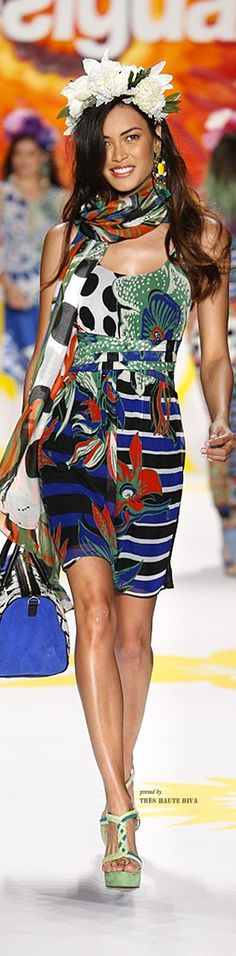 #NYFW Desigual Spring 2015 RTW (Collection 'Say Something Nice for Spring designed by Christian Lacroix)