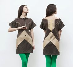 mini dress with geometric lines