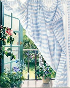 """Susan Rios Handsigned & Numbered Giclee Limited Edition on Canvas:""""California Morning"""" - Susan Rios"""