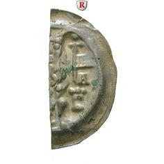 Hildesheim, Bistum, Heinrich I., Brakteatenhälfte, f.vz: Heinrich I. 1247-1257. Brakteatenhälfte Alfeld. Bischof hält zwei Fahnen… #coins