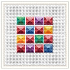 Geometric cross stitch pattern Easy Beginners Cross Stitch