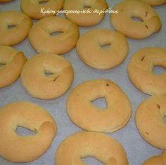 Παξιμαδάκια και κουλουράκια λεμονιού και βανίλιας - cretangastronomy.gr Bagel, Food, Meals, Yemek, Eten