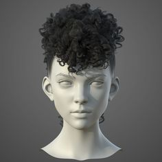 This is my I make a hair practice. Hope you like them. 3d Model Character, Character Modeling, 3d Modeling, Character Design Tutorial, Character Design Inspiration, 3d Face Model, Keratin, Zbrush Hair, Hair Test