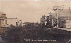 RP: Stony Plain , ALBERTA , Canada , Main Street looking north General Store Photo Pcd used 1908