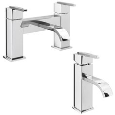 £169 Chrome RRP Metro Q Lever Tap Hi-Rise Bathroom Mono Basin Mixer
