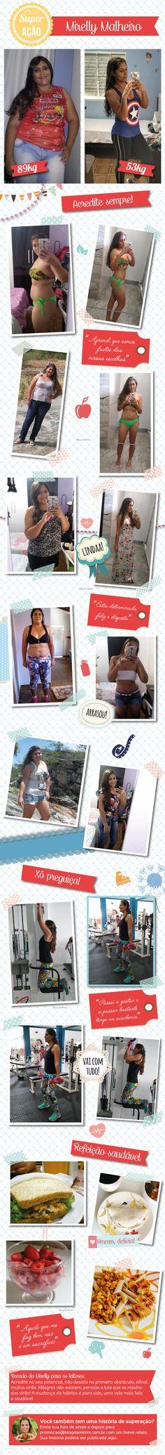 """Superação Mirelly Malheiro: """"eliminei 35kg em apenas 6 meses"""" - Blog da Mimis #emagrecer #loseweight #perderpeso #diet #dieta #dicas #alimentação #reeducaçãoalimentar #saudável"""