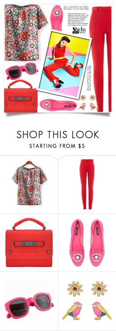 """""""Shein 4"""" by aida-banjic ❤ liked on Polyvore featuring Carven, Dolce&Gabbana and shein"""