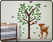 BAMBI Wall Art Decal for Baby Nursery Room - Vinyl Decor w/ Butterfly & Friends. $29.50, via Etsy.