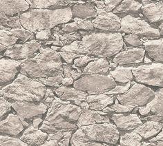 Highland Dunes Darek Wood Stone L x W Wallpaper Roll Color: Light Beige Stone Wallpaper, Brick Wallpaper Roll, Wallpaper Panels, Striped Wallpaper, Geometric Wallpaper, Textured Wallpaper, Shabby Look, Bamboo Design, Botanical Wallpaper
