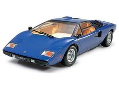 The Tamiya 1/24 Lamborghini Countach LP400 is a plastic model kit in the Tamiya 1/24 Car Plastic Model Kits range. This plastic car kit requires paint and glue to complete.