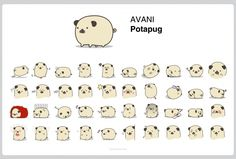 Potapug LINE Sticker | Kreavi.com