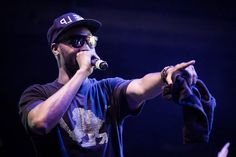 RZA in Parasite Eyewear Cyber 1 at the Brooklyn Bowl Las Vegas.