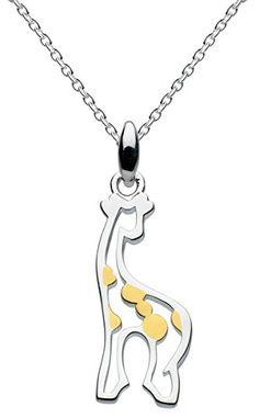 Collar de plata modelo jirafa