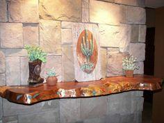 Mesquite wood top