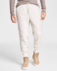 Sun + Stone Men's Solid Sherpa Jogger Pants, Created for Macy's Jogger Pants, Joggers, Teen Boy Fashion, Khaki Pants, Men, Stone, Boys, Vintage, Baby Boys