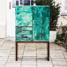Magnificent_Green_Goatskin_Aldo_Tura_Bar_Cabinet - 1
