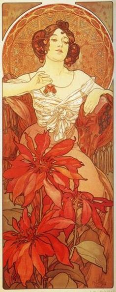 Le Rubis by Alfons Mucha