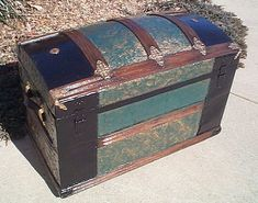 My great grandmother left my mama her old trunk that looks similar to this (hers is pink though)...I remember being little and BEGGING mom to let us look through the old letters...guess I'll always be that kind of girl :)