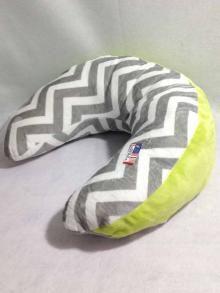 Ozark Mountain Nursing Pillow Grey Chevron with Apple Green