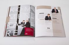 UBM annual report 2013 by Projektagentur Weixelbaumer, via Behance Editorial Design, Behance, Editorial Layout