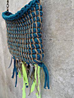 Turisian Crochet bag from jersey yarn and hemp thread