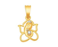 Lord Ganesha diamond pendant from KISNA Diamond Jewellery. #indian #diamond #jewelry