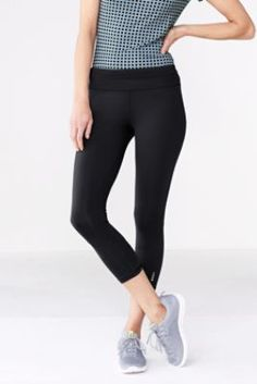 Women's Activewear Control Crop Legging from Lands' End