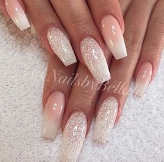 Beautiful coffin nail designs that you would like to try out Nail Design Nail Art Nail Polish Nail Polish Nailart Nails Evo side carr Sparkly Nail Designs, Simple Nail Designs, Nail Art Designs, Pedicure Designs, Fun Nails, Pretty Nails, Easy Nails, Simple Nails, Bride Nails