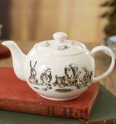 Alice In Wonderland Victoria & Albert Museum Mini China Teapot