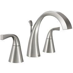 Moen Oxby Spot Resist Brushed Nickel 2-Handle Widespread WaterSense Bathroom Faucet Drain Included