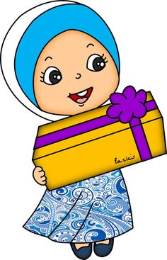 Cartoon Kids, Cartoon Images, Doodle Girl, Anime Muslim, Class Decoration, Banner Vector, Cartoon Design, Comic Character, School Projects